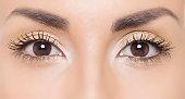 Close up photo of woman eyes