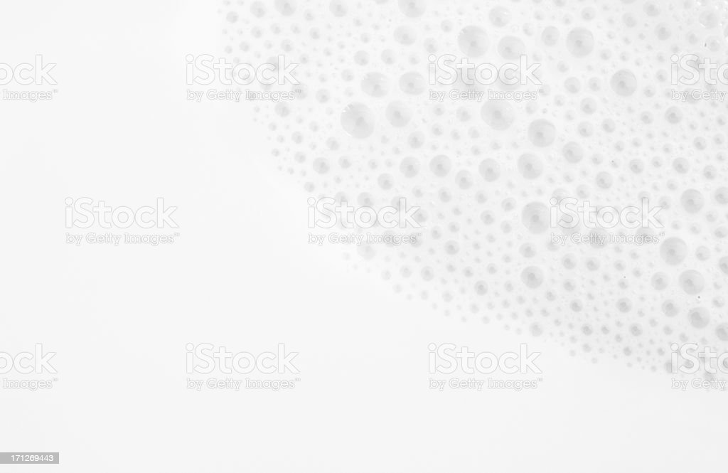 Close up photograph of milk with bubbles stock photo