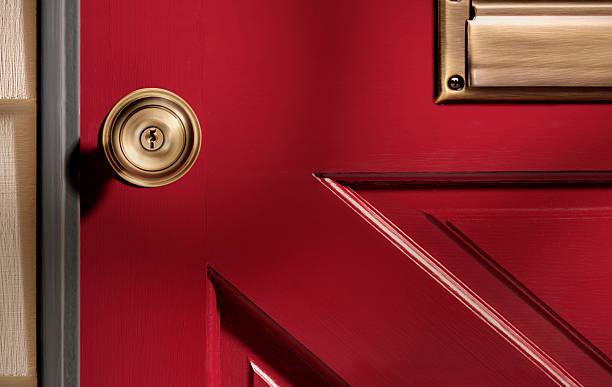 red door - maçaneta manivela - fotografias e filmes do acervo