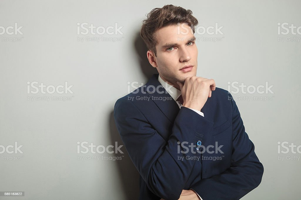 Close up picture of a handsome young business man stock photo