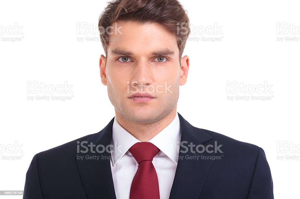 Close up picture of a handsome young business man - foto de stock