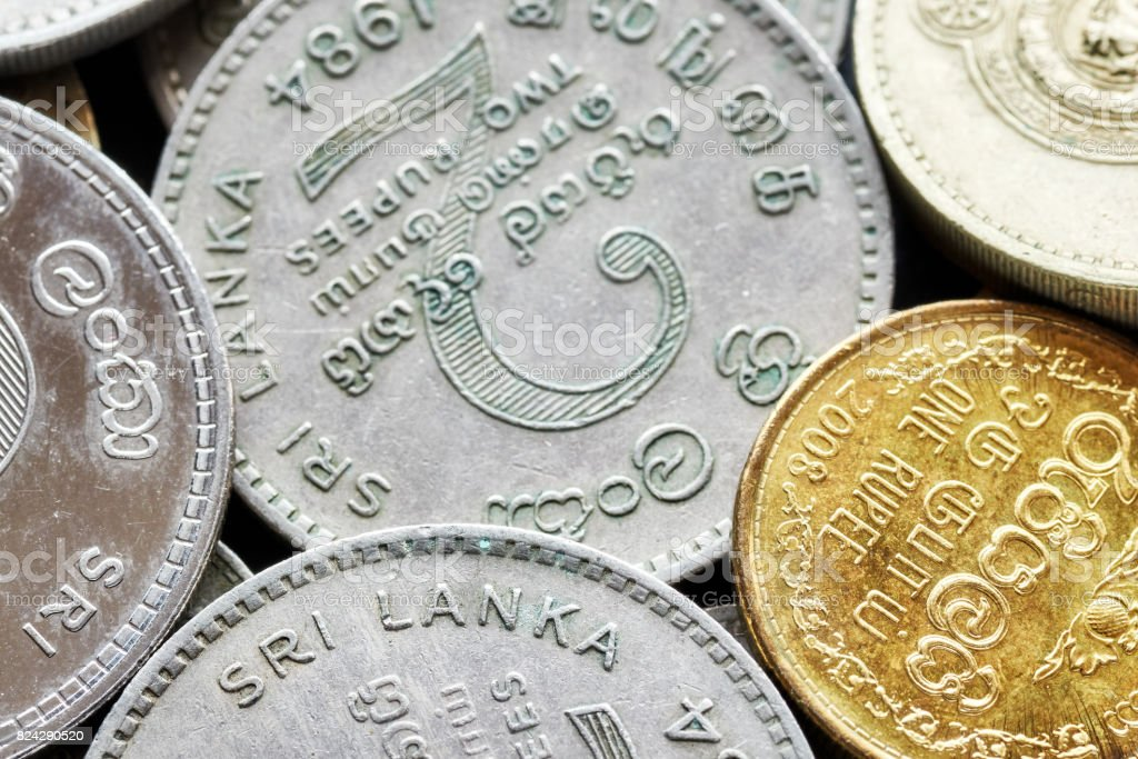 Close up picture of Sri Lankan rupee. stock photo