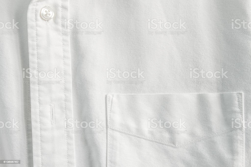 Close up pocket on white shirt - foto de stock
