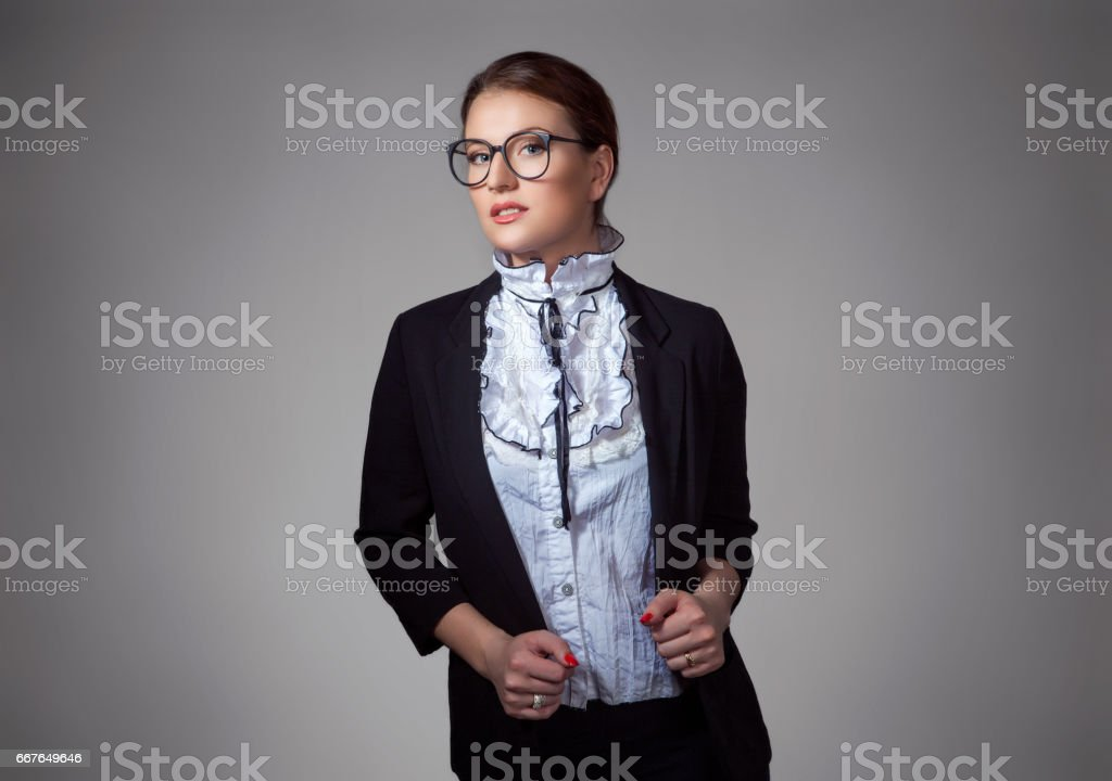 Close Up Portrait Confident Business Woman In Formal Dress Code