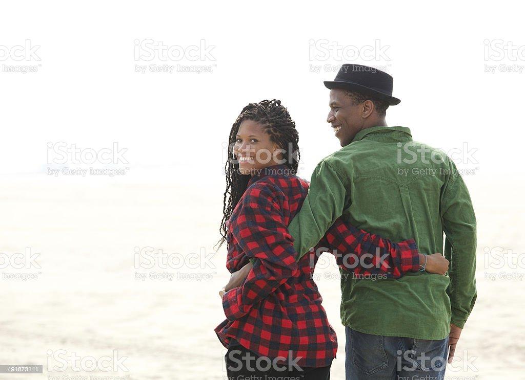 Close up portrait of a happy black couple stock photo