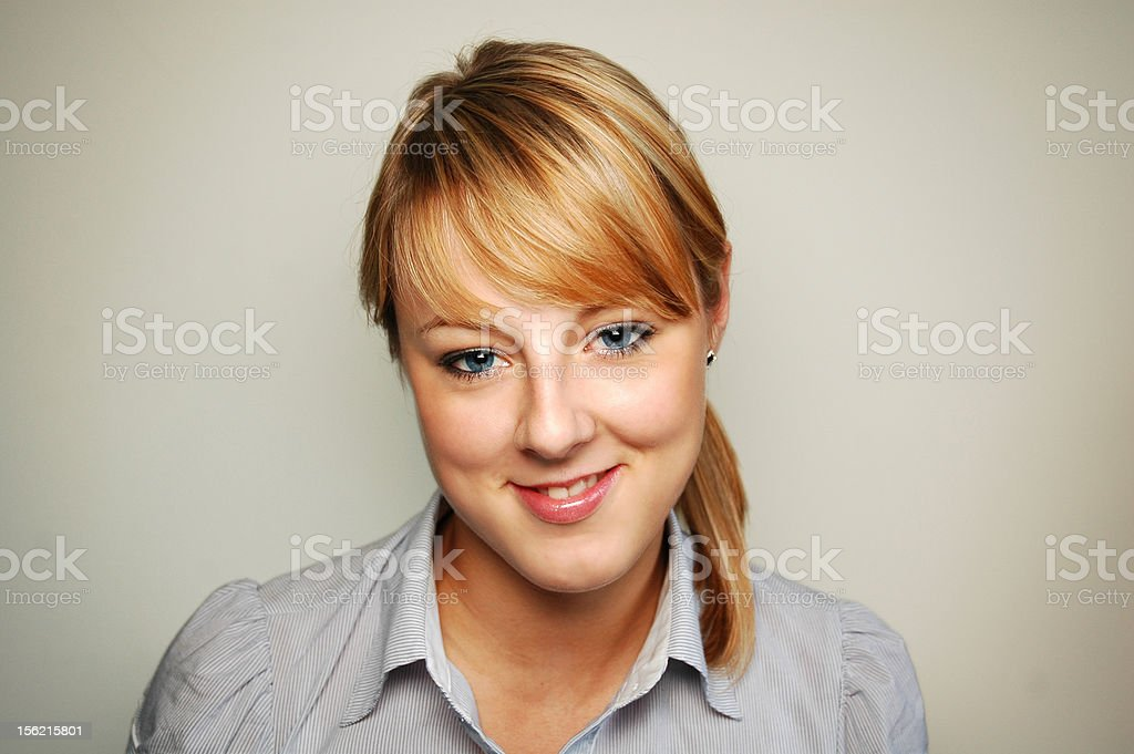 close up portrait of a young girl royalty-free stock photo