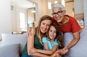 istock Close up portrait of charming lovely sweet nice friendly family 1167337974
