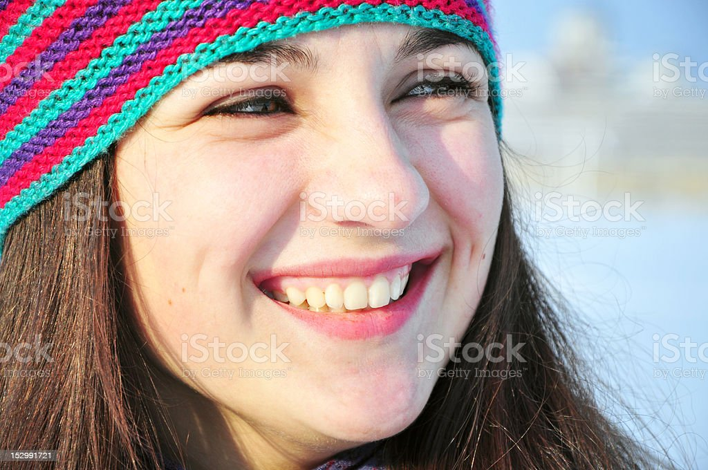 close up portrait of smiling girl royalty-free stock photo