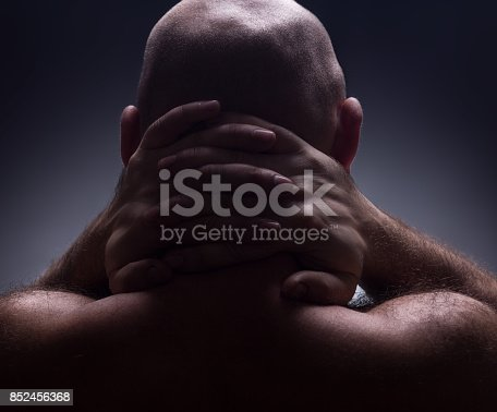 1162960006istockphoto Close up portrait of worrying bald man. 852456368