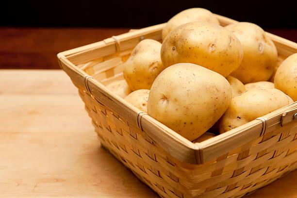 close up potato stock photo