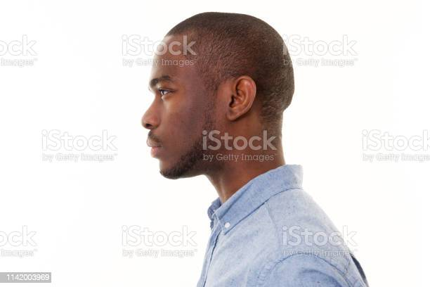 Close up profile of handsome young black man against isolated white picture id1142003969?b=1&k=6&m=1142003969&s=612x612&h=wvcgua5lvmtn zaykqrcocujr7zyyccf6wccm5riixa=