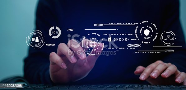 1054934004 istock photo close up programmer man hand typing on keyboard laptop for register data system or access password and writing configuration for protection with virtual interface of cyber security at dark operation room , concept 1152032098