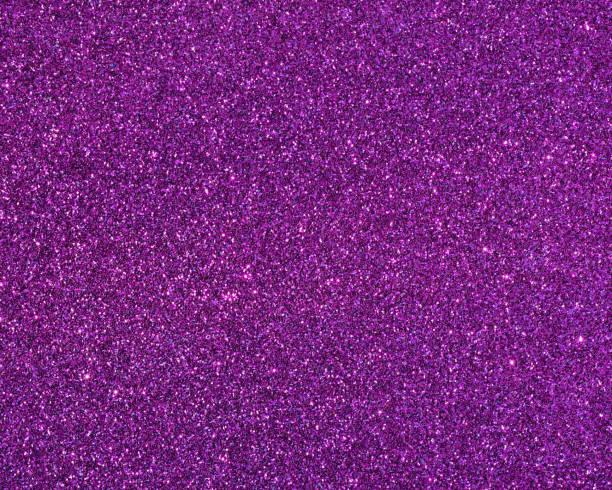 Close up purple glitter background stock photo