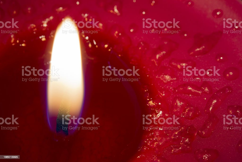 Close up red candle royalty-free stock photo