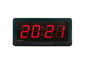 istock close up red led light illumination numbers 2021 on black digital electric alarm clock display isolated on white background 1273722066