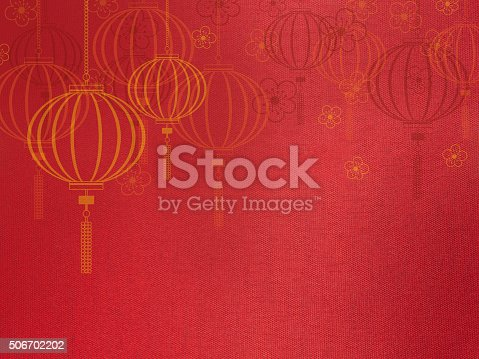 istock Close up red silk fabric, 506702202