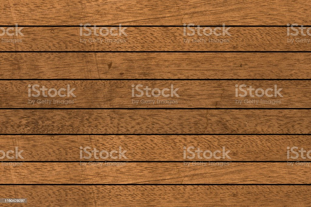 Close Up Retro Brown Color Tone Wood Panel Plank Horizontal