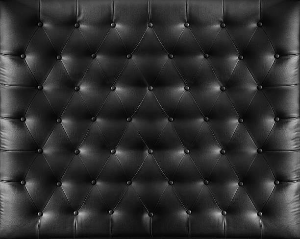 Close up retro chesterfield style, Black capitone textile background – Foto