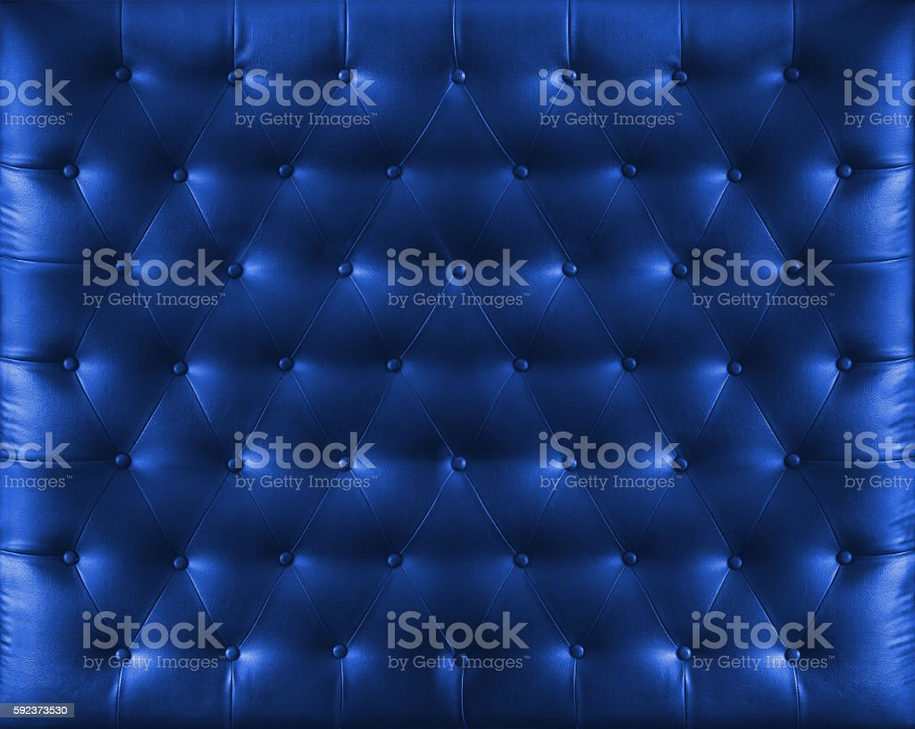 Close up retro chesterfield style, Blue capitone textile background – Foto