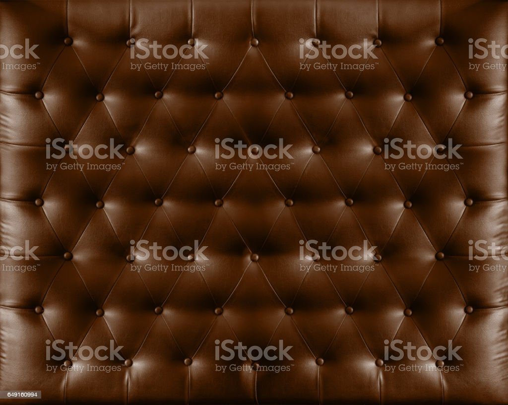 Close up retro chesterfield style, Brown capitone textile background – Foto