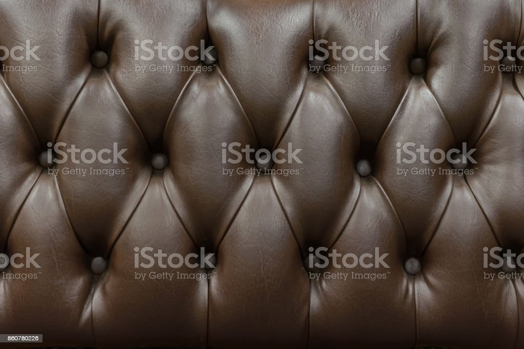 Retro-Chesterfield-Stil, braun Capitone Textile Hintergrund hautnah – Foto