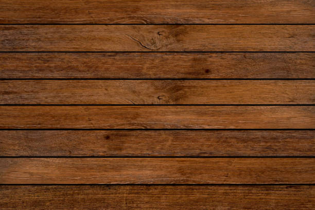 close up retro dark brown color tone wood panel plank horizontal background texture for design element concept close up retro dark brown color tone wood panel plank horizontal background texture for design element concept knotted wood stock pictures, royalty-free photos & images