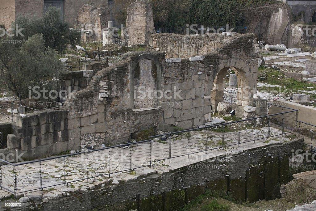 close up roman forum royalty-free stock photo