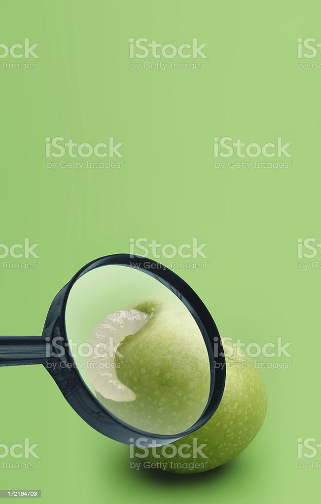 close up - rotten apple royalty-free stock photo