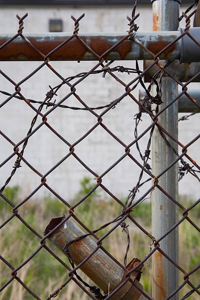 Nahaufnahme verrostete Zaun – Foto