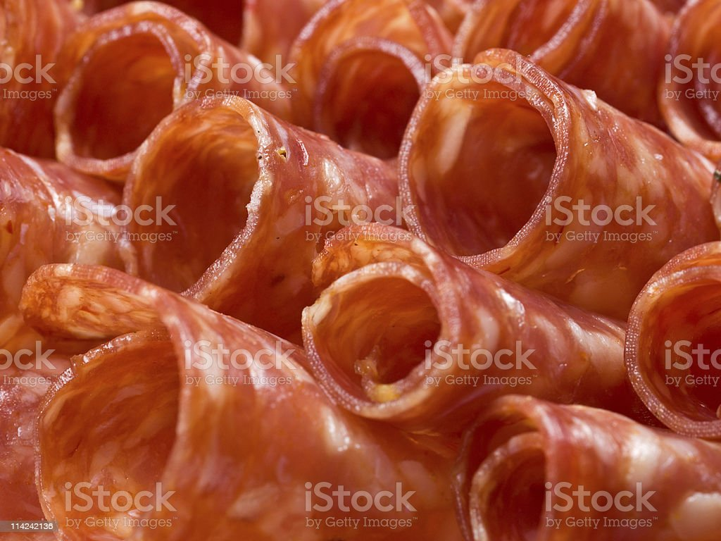 Close up Salami royalty-free stock photo
