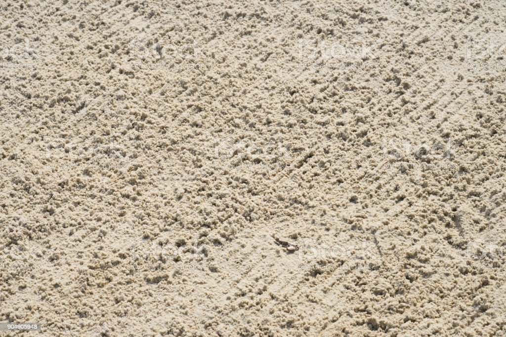 Close up Sand bunker on the beautiful golf course stock photo