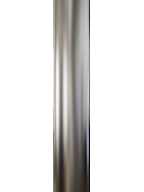 close-up de tubos de metal brilhante sobre fundo branco - cromo metal - fotografias e filmes do acervo