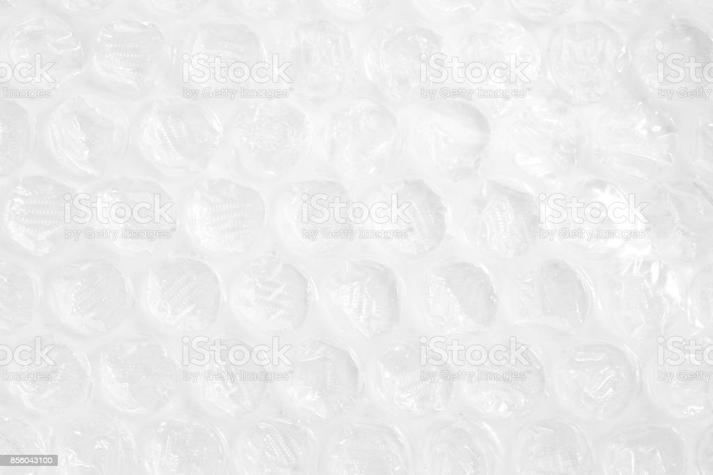 Close up shockproof plastic on white background stock photo