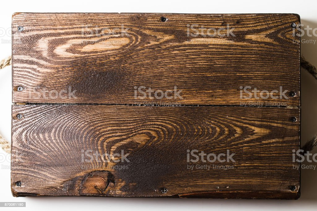 A close up shot of a wooden tray stock photo