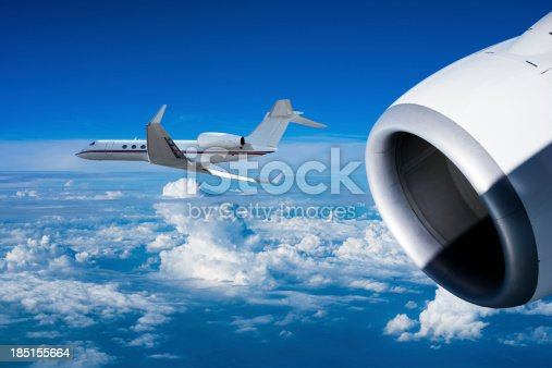 istock Close up shot of airplanes in flight 185155664