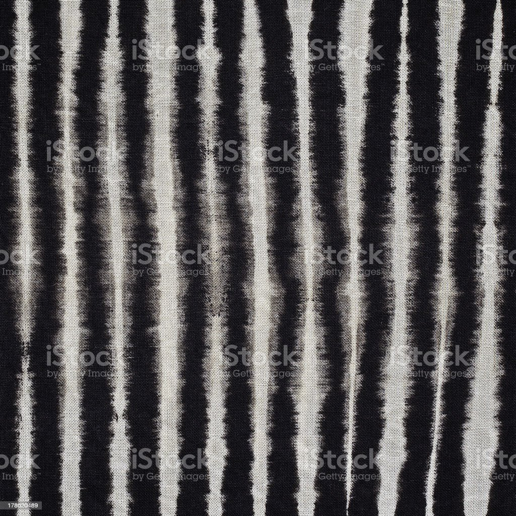 Close up shot of black and white tie dye pattern stock photo