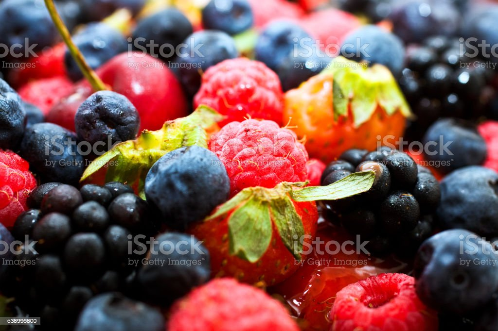 Close up shot of Fresh Berry Fruits foto royalty-free