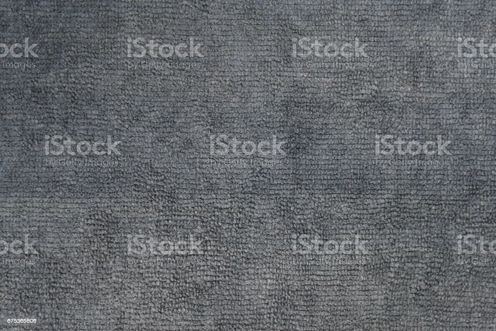 close up shot of gray microfiber cloth texture for background stock photo