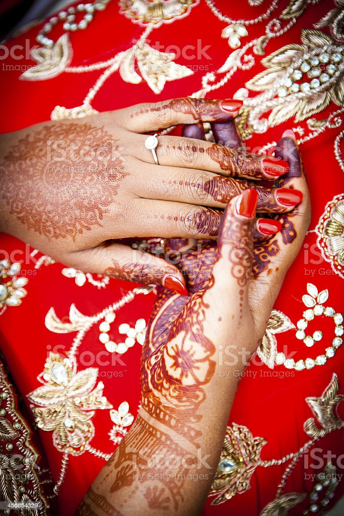 Close up shot of henna royalty-free stock photo