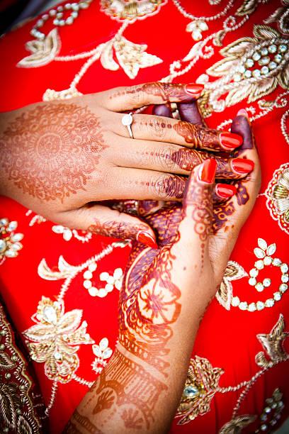 Close up shot of henna stock photo