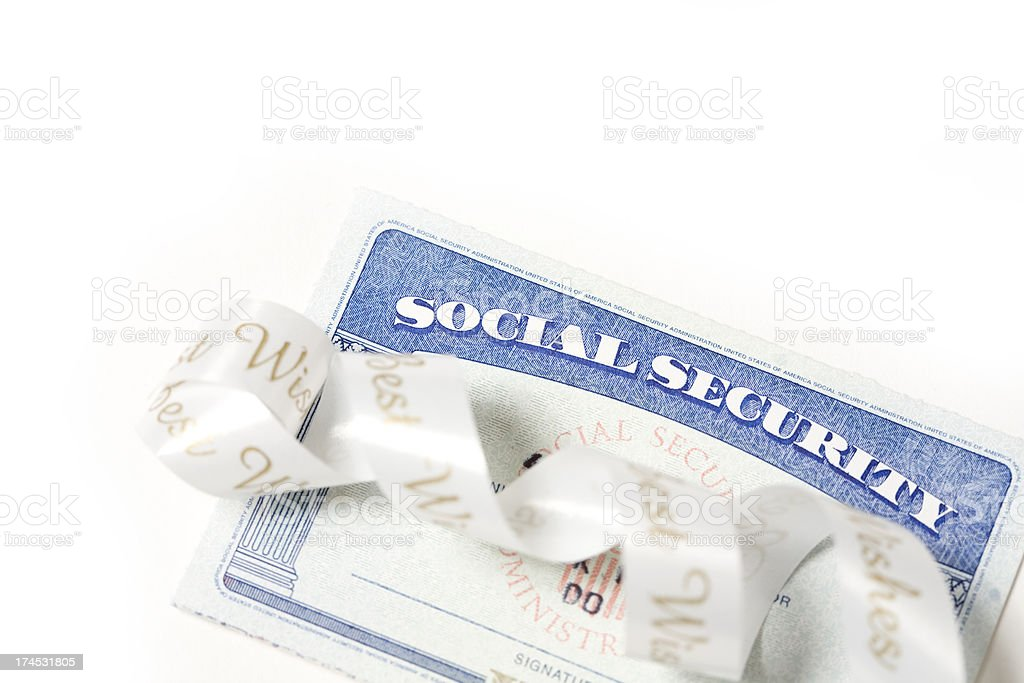 Close up shot of social security royalty-free stock photo