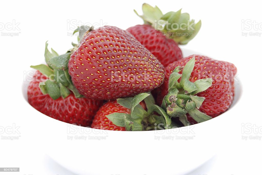 Close Up Shot of Strawberries royalty-free stock photo