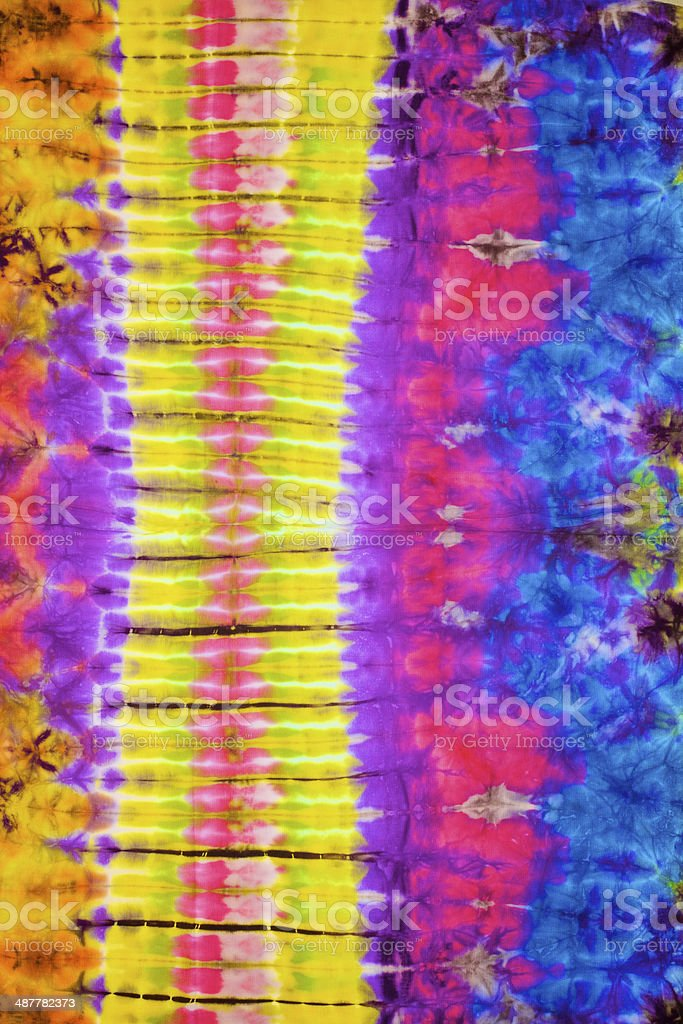 close up shot of tie dye fabric texture background