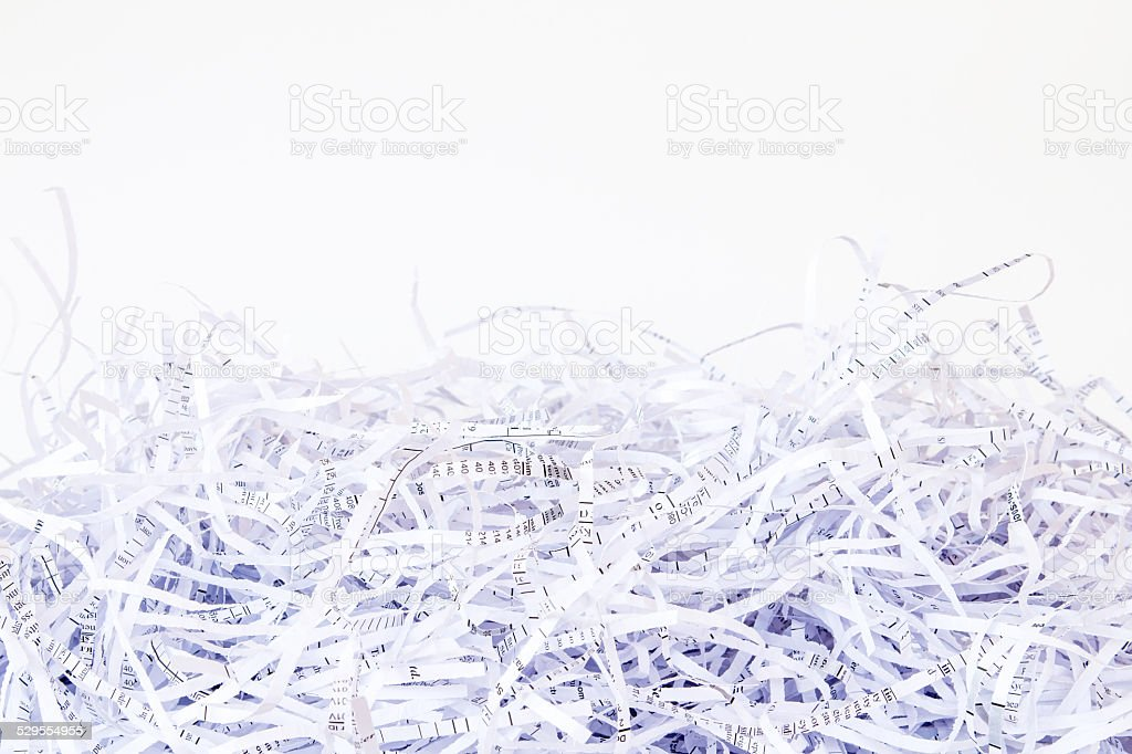 Close up Shredded paper background stock photo