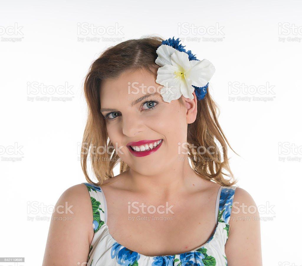 close up smile stock photo