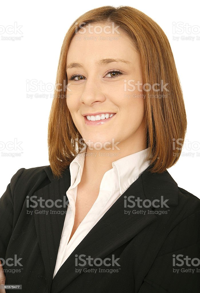 Close Up Smiling Business Woman royalty-free stock photo
