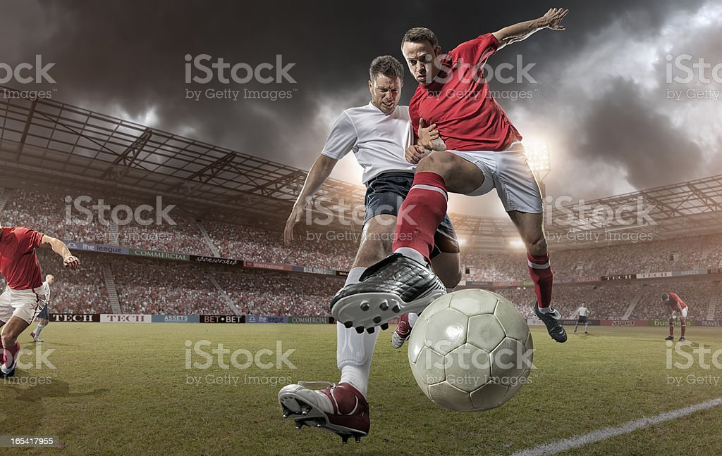 Close Up Soccer Action stock photo