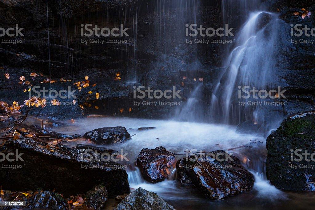 Close Up Soco Falls Waterfall Smoky Mountains National Park Tenn stock photo