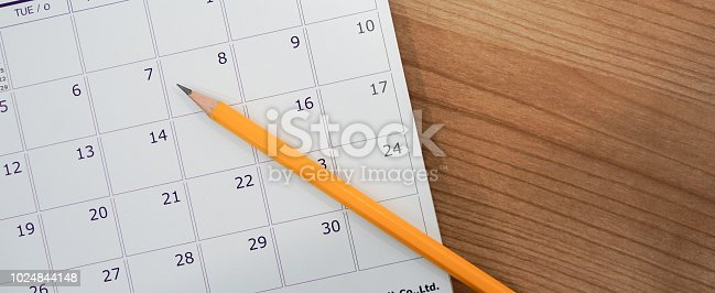 istock close up soft focus on pencil over calendar 2018 at office desk with top view concept 1024844148