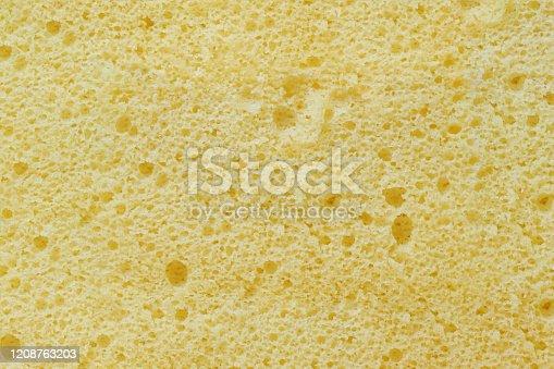 Close up sponge cake texture